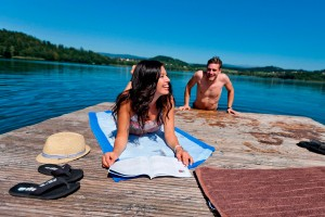 Badespaß am hauseigenen Badestrand direkt am Längsee